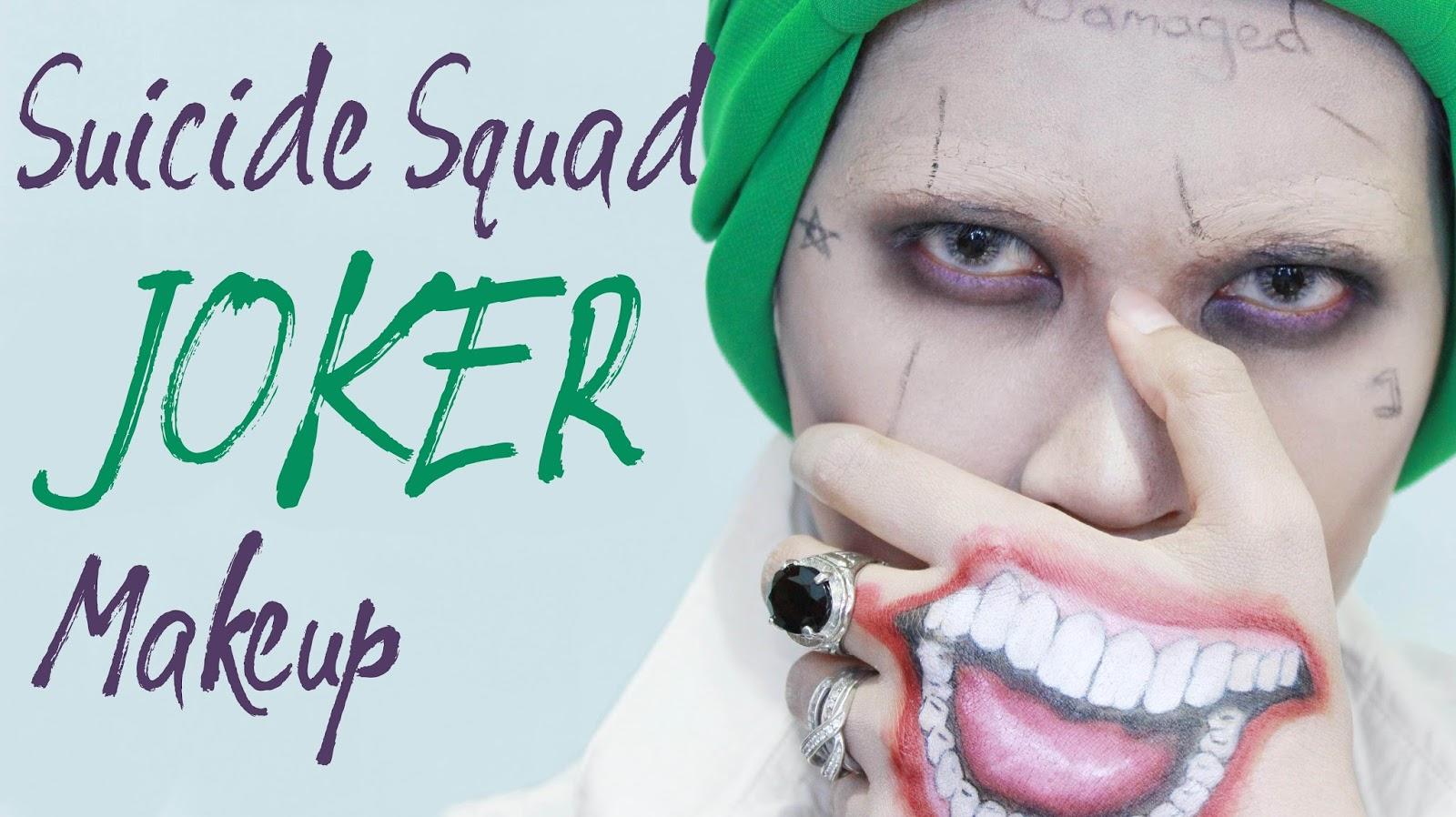 Tutorial Suicide Squad Joker Makeup - Joker-makeup-tutorial