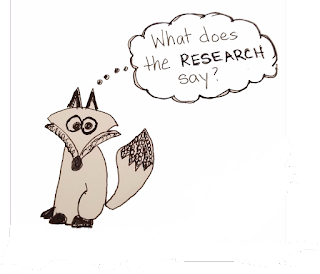 "Comic Fox thinking ""What does the RESEARCH say?"""