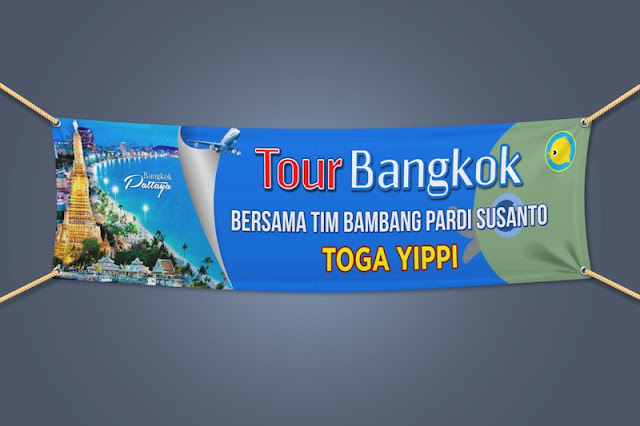 Spanduk Yippi to Tour Bangkok Pattaya