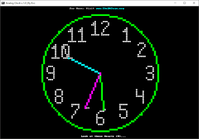 How to Make an 'Analog Clock' with Notepad | The Analog Clock Project v.1.0 | Advance Batch | By Kvc