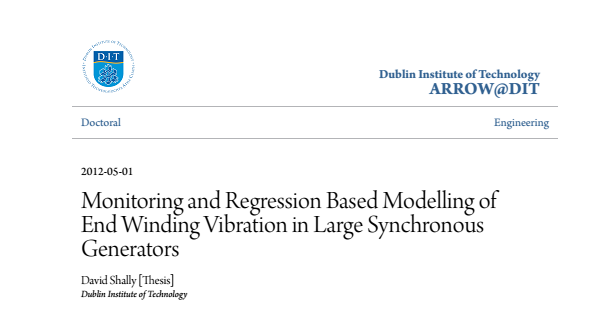 Monitoring And Regression Based Modelling Of End Winding