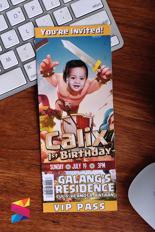 Calix Clash of Clan Theme Invitation Stunro CreativeWorks