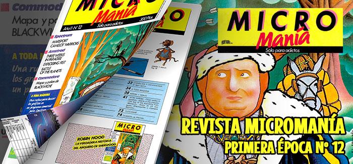 Revista Micromanía Primera época Número 12 1986