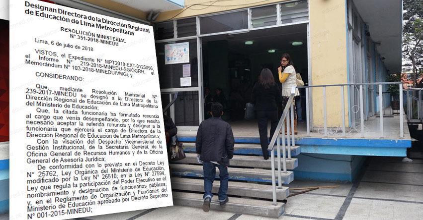 Designan nueva directora en la DRELM (Katherine Consuelo Alva Tello) Dirección Regional de Lima Metropolitana - www.drelm.gob.pe