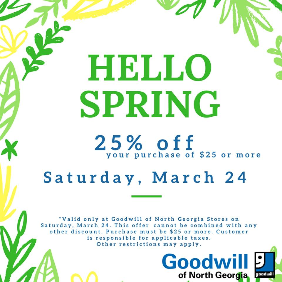 Goodwill discount coupon