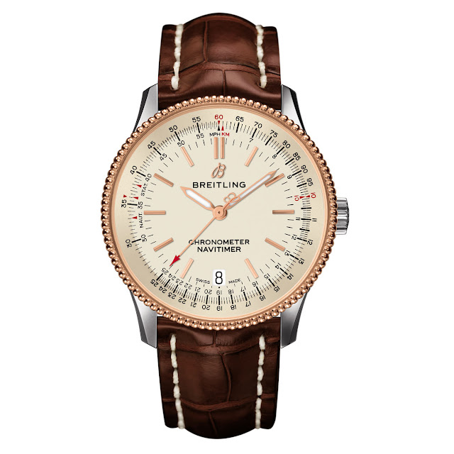 Breitling Navitimer 1 Automatic 38 - Steel and Rose Gold, Cream Dial