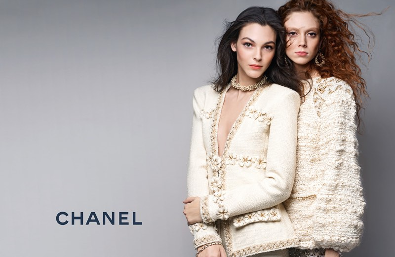 Natalie Westling and Vittoria Ceretti star in Chanel's pre-fall 2017 campaign
