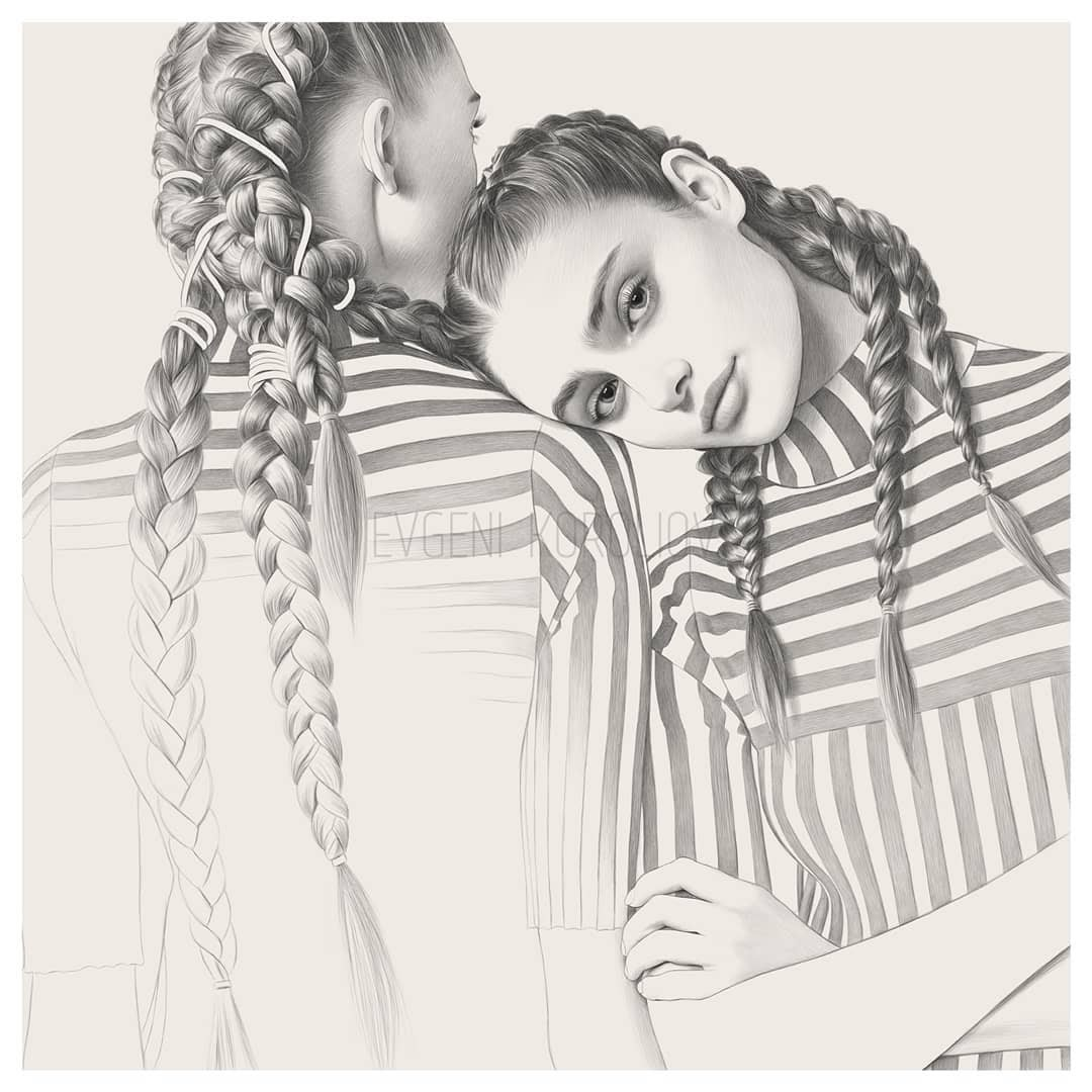 01-Hairstyles-Evgeni-Koroliov-Pencil-Portrait-Drawings-Contour-Maps-www-designstack-co