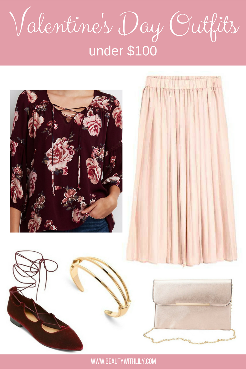 Valentine's Day Outfit Under $100 // Flirty Date Night Outfit | beautywithlily.com