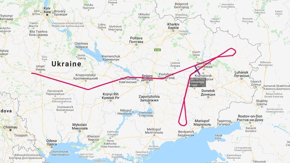 інію розмежування на Донбасі почав моніторити розвідувальний безпілотний літальний апарат RQ-4B Global Hawk