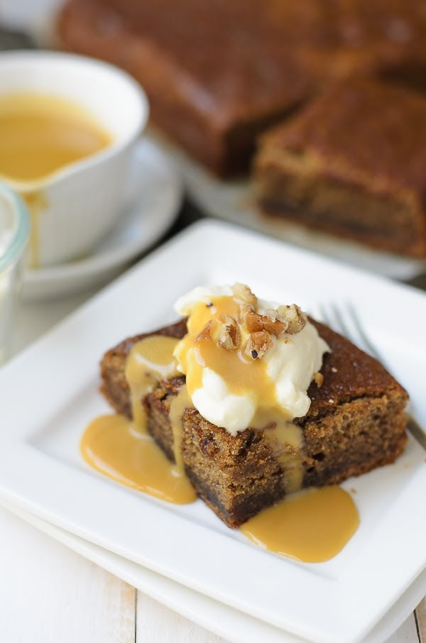 Sticky date pudding with brown butter sauce photo