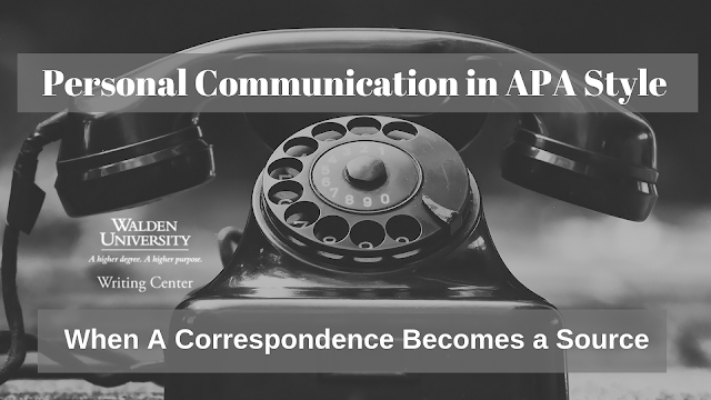 Personal communication in APA style: When a correspondence becomes a source