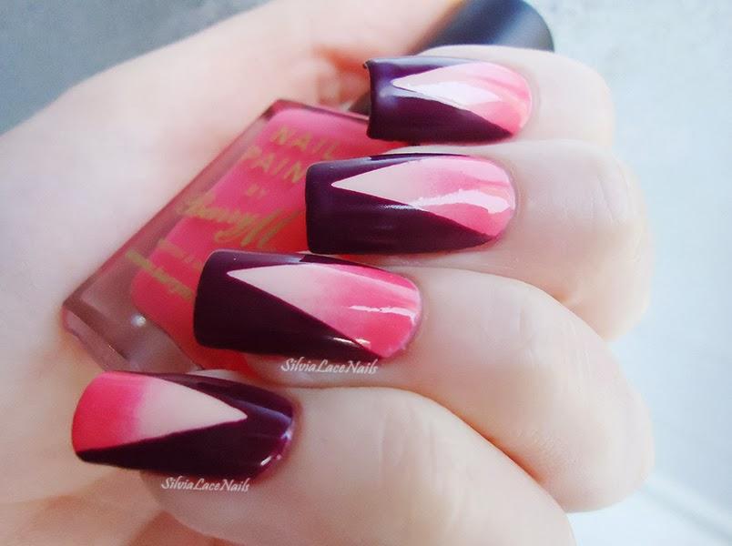 Pink and purple gradient chevron