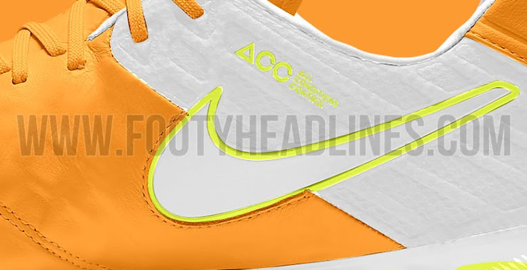 f42a7559b The new orange Nike Tiempo Legend 6 football boots are part of an exclusive Women's  boot collection.