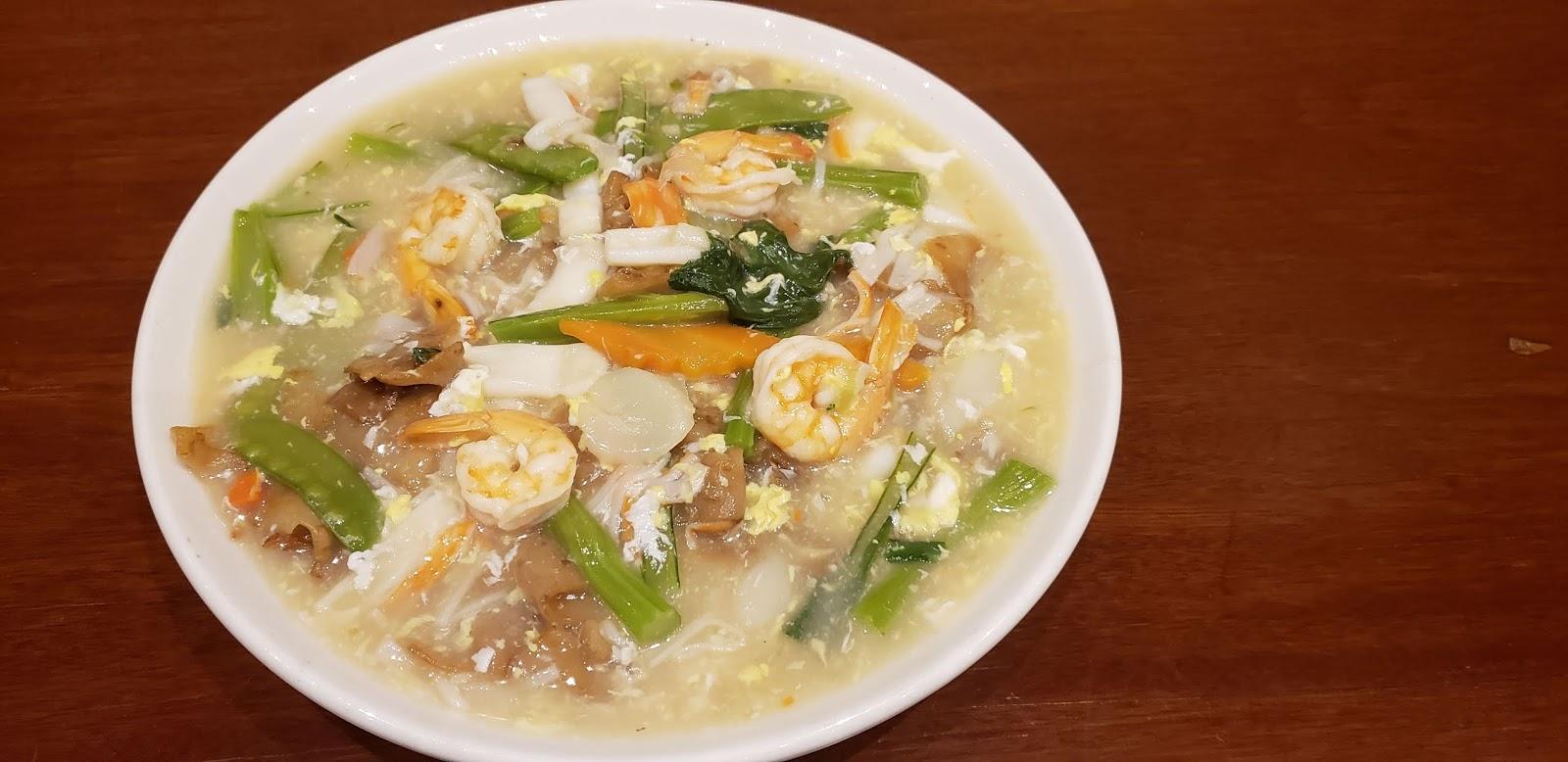 Seafood Scrambled Egg Chow Fun