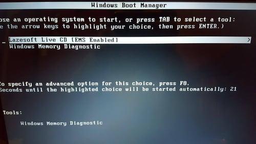 - تمهيد الجهاز (BOOT) على مفتاح USB