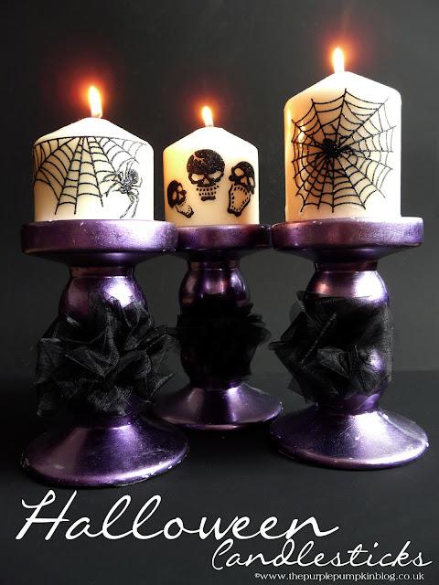 Halloween Candlesticks | The Purple Pumpkin Blog