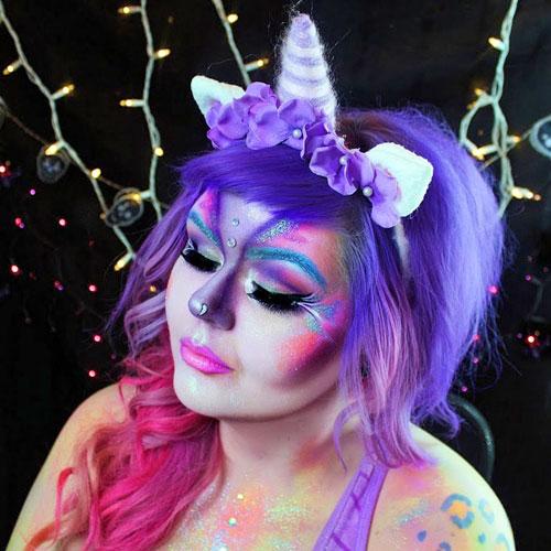 maquillaje para disfraces de unicornio