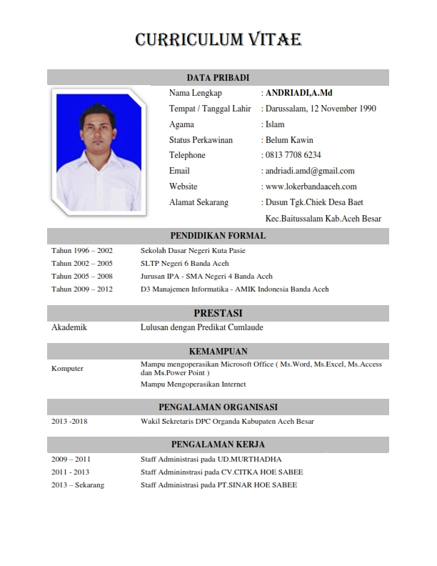 Contoh Curriculum Vitae  Lowongan Kerja Terbaru. Resume Template Free Download Doc. Sample Excuse Letter For Being Absent In School Due To Fever. Resume Writing Services Cost. Formal Letter Template On Word. T Cover Letter Word Template. Cover Letter Sample To Unknown Recipient. Fax Cover Letter Template For Word. Letterhead Design Jpg