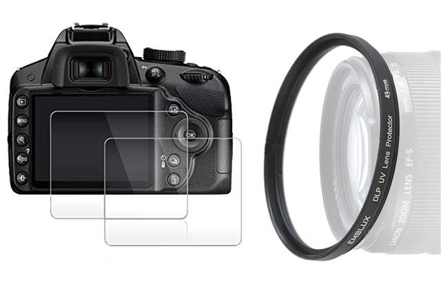Pelindung Lensa dan Layar Kamera
