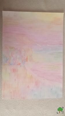 kolory tęczy, ekspresjonizm, bardzo kolorowy, tęczowy rysunek, hippie