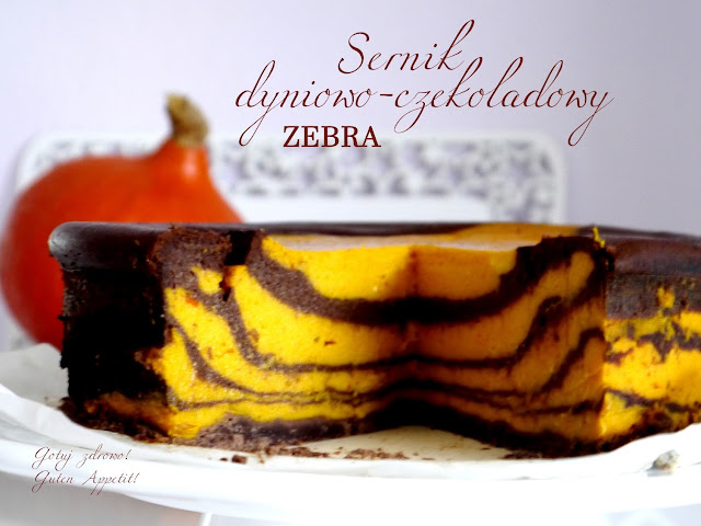 Sernik dyniowo - czekoladowy, zebra - Czytaj więcej »