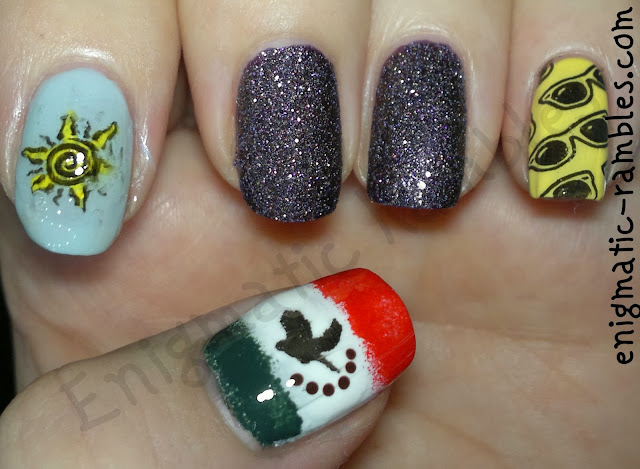 mexican-mexico-nails-flag-sun-barry-m-countess-sunglasses