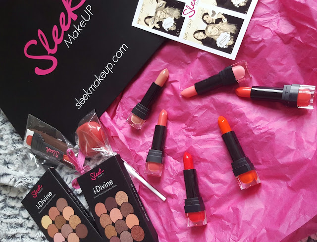 Sleek MakeUp Lip VIP Lipsticks and i-Divine eyeshadow palettes