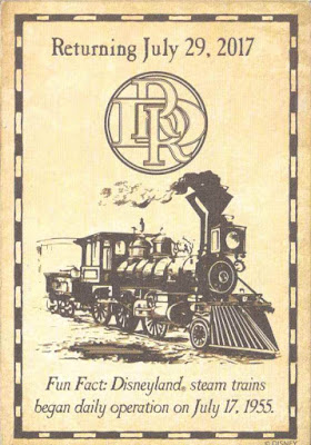 Disneyland Railroad Return Trading Card