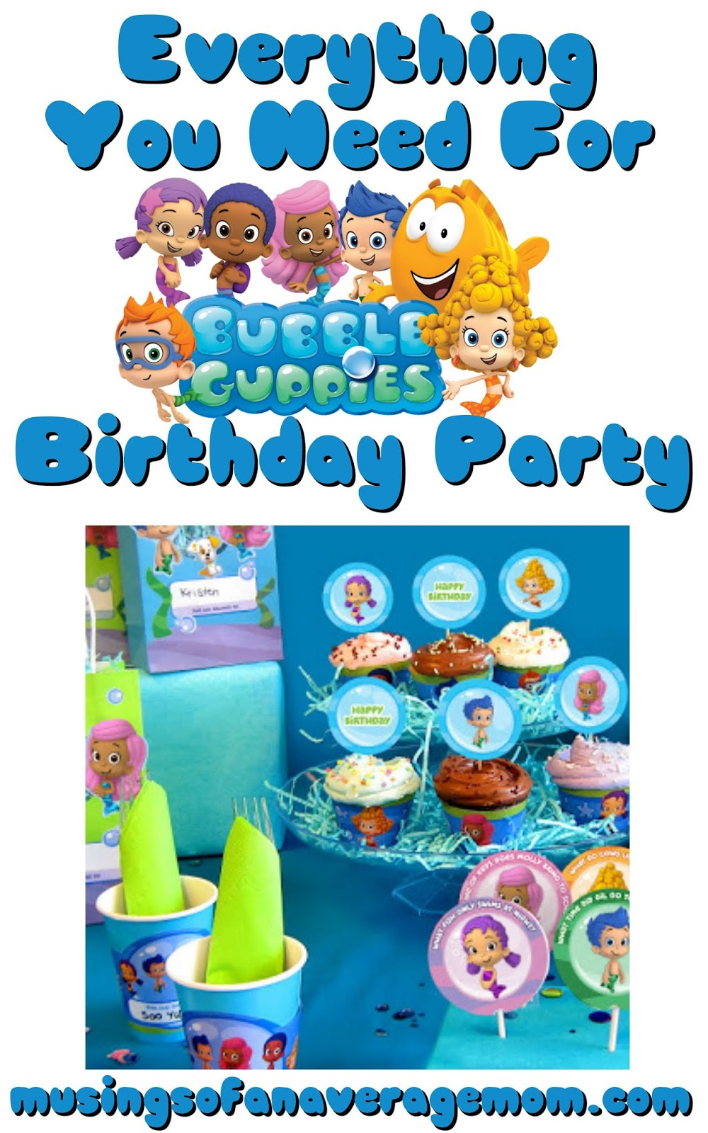 Musings Of An Average Mom Bubble Guppies Party Printables