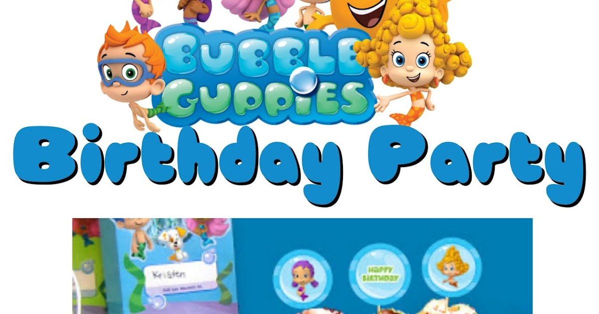 Musings of an Average Mom: Bubble Guppies Party Printables