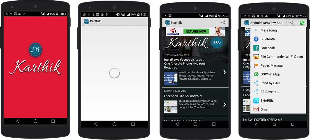 Professional Android Webview Application With Splash