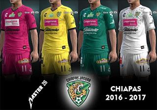 Kits Chiapas 2016 - 2017 Pes 2013 By Master26