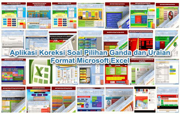 Aplikasi Koreksi Soal Pilihan Ganda dan Uraian Format Microsoft Excel