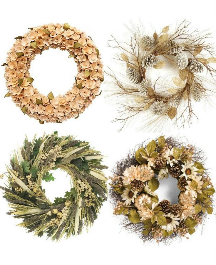 cheap fall wreath ideas