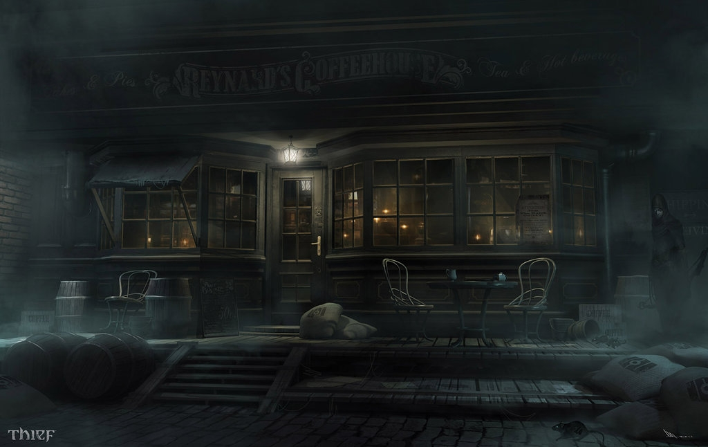 06-Reynard-s-Coffee-House-Mathieu-Latour-Duhaime-Concept-Art-for-Thief-Steampunk-feel-Video-Game-www-designstack-co