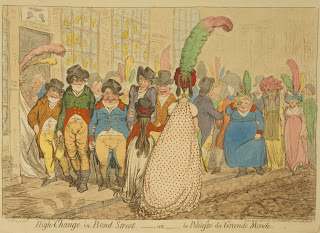 'High change in Bond St'. Fashions of 1796. James Gillray, Library of Congress LC-USZC4-8766.