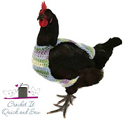 Made to Order Crocheted Chicken Sweaters from CrochetItQuickAndSew on Etsy.
