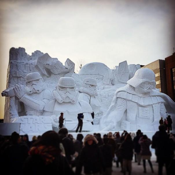 映画スター・ウォーズに触発されたアートな作品7選【art】雪像のスターウォーズ