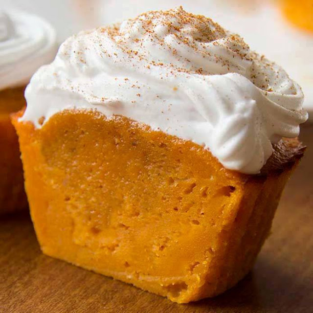 Impossible Pumpkin Pie Cupcakes - DIY Craft Projects