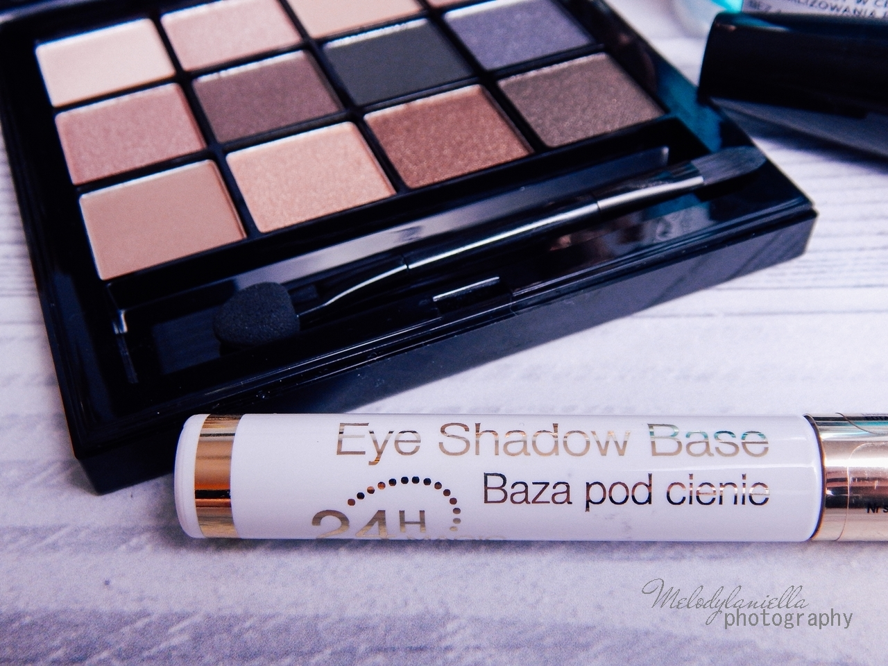 7 eveline cosmetics nude all in one eyeshadow palette melodylaniella recenzja cienie do powiek paletka cieni mascara big volume lash eye shadow base baza pod cienie oczyszczający płyn micelarny test