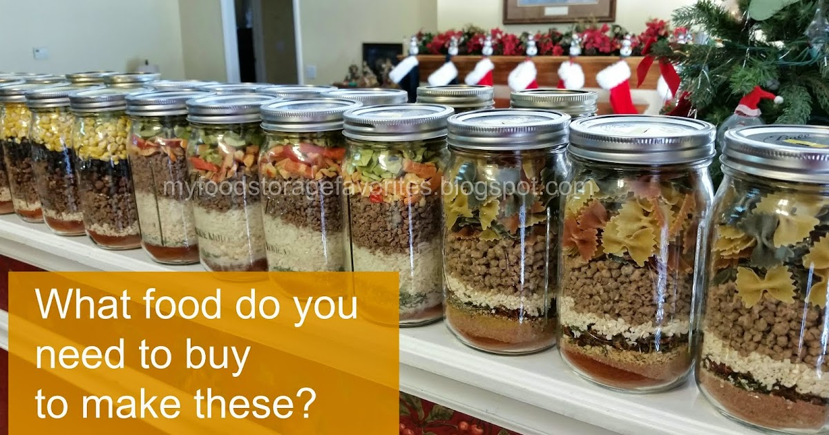 My Food Storage Favorites Quot Meal In A Jar Quot Packs