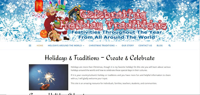 Celebrating Holiday Traditions Website Design by Julianne of Bratiful Creative Solutions