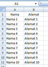 Menggunakan Mail Merge dengan Bantuan Microsoft Excel