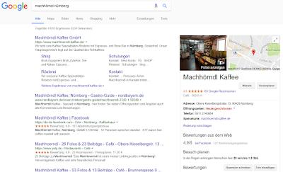 Google My Business auf dem Desktop-Rechner
