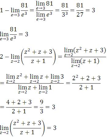 Limite del cociente de funciones