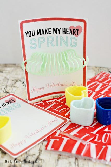 Slinky Valentines, non-candy valentines, kids valentines, DIY valentines