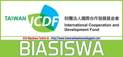 biasiswa TAIWAN ICDF Scholarship INTERNATIONAL COOPERATION