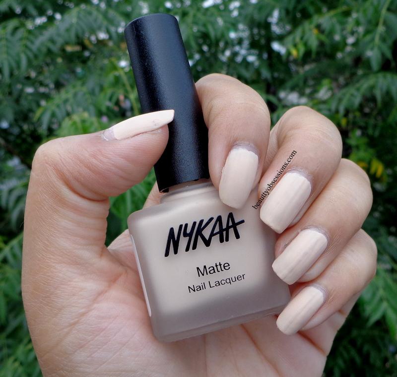 Nykaa Chrome Nail Polish Review: Nykaa Matte Nail Paints (Lavender Panna Cotta, Squid Ink