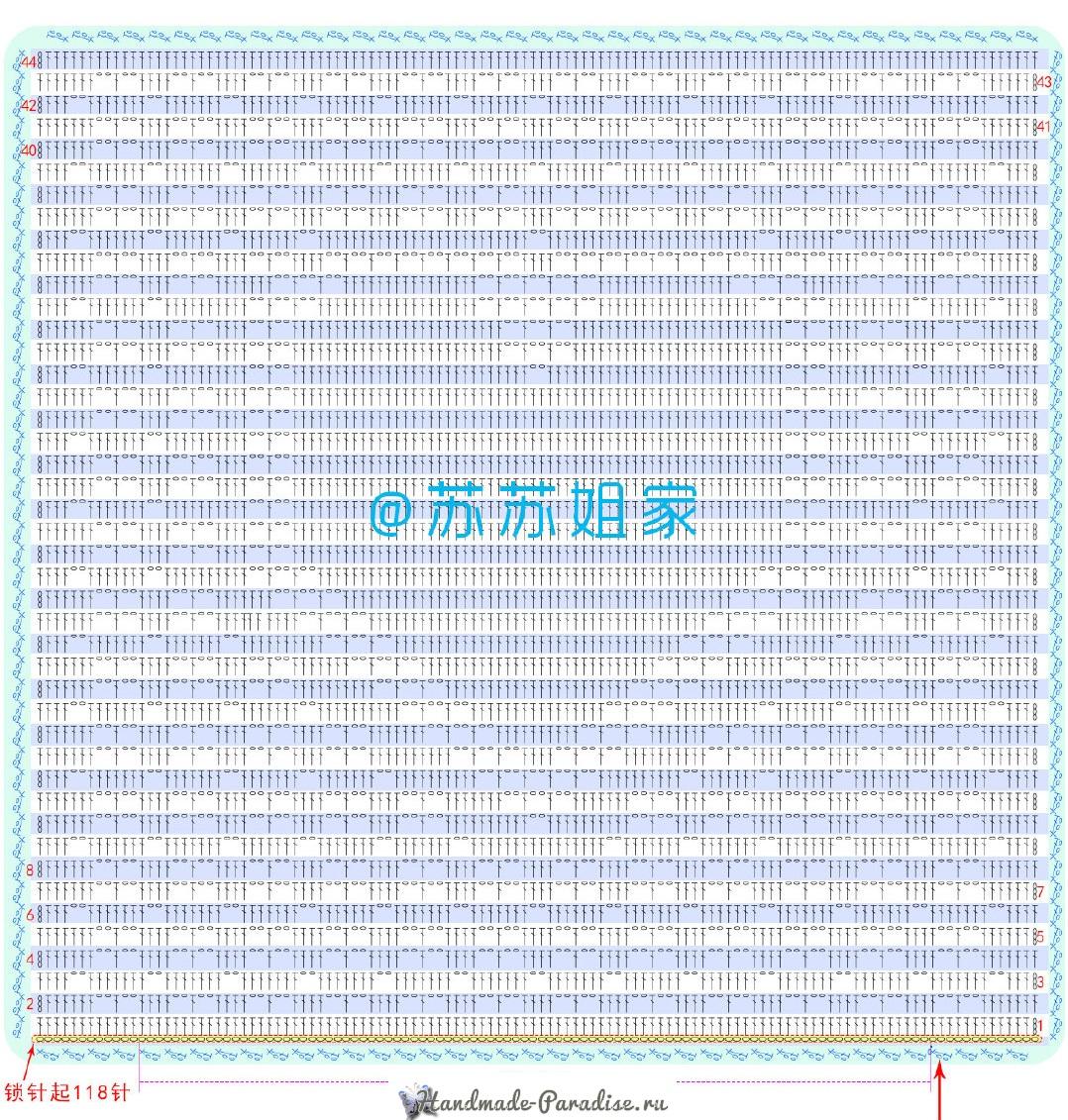 Схема вязания подушки с гвоздиками